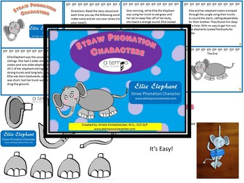 Ellie Elephant (Straw Phonation Characters)