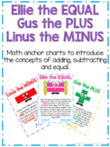 Ellie the EQUAL, Gus the PLUS, Linus the MINUS - Math Anchor Charts