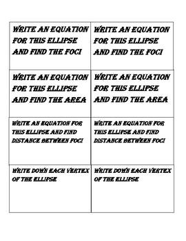 Ellipses Activity