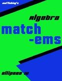 Ellipse Matching IV
