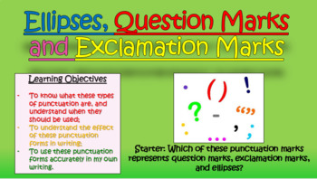 Ellipses, Question Marks, and Exclamation Marks