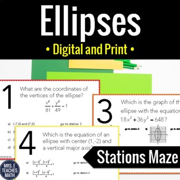 Ellipses Stations Maze Activity