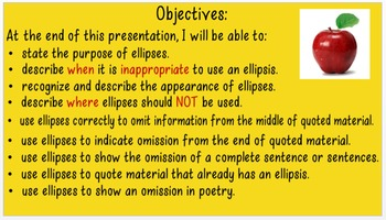 Ellipses for Omission CCSS L.8.2.b