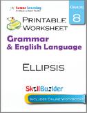 Ellipsis Printable Worksheet, Grade 8