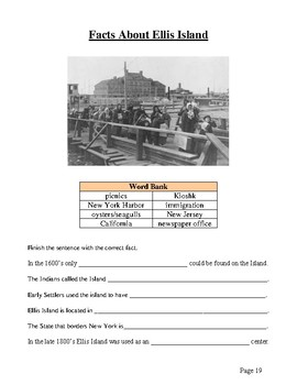 Ellis Island - America's Gateway, Handouts