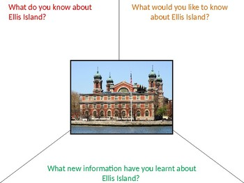 Ellis Island Graphic Organizer KWL Activity
