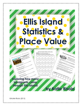 Ellis Island Immigration Statistics and Place Value Activities