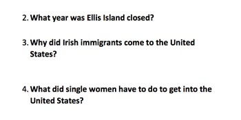 Ellis Island Informational Text and Comprehension Questions