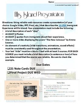 Ellis Island Presentations
