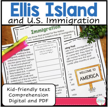 Immigration at Ellis Island Text and Activities