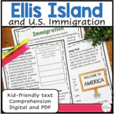 Ellis Island and Immigration Reading Comprehension Passages