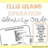 Ellis Island Unique Simulation Identity Cards
