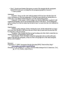 Ellis Island Video Lesson Plan