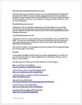 Ellis Island and Angel Island Immigration Journals (2 Journals)