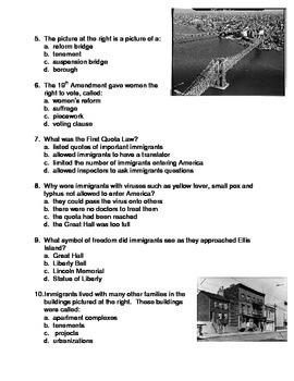 Ellis Island and Immigration QUIZ