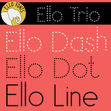 Ello Trio for Handwriting from Ello Fonts - Dash, Dot & Line