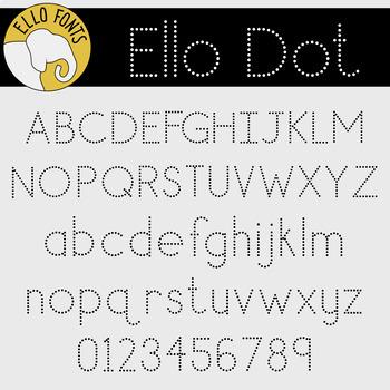 Ello Trio for Handwriting from Ello Fonts - Dash, Dot & Line