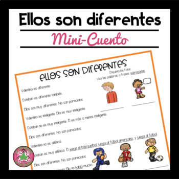 Ellos Son Diferentes Reading Comprehension Passage and Questions