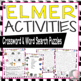 Elmer Activities McKee Crossword Puzzle and Word Searches