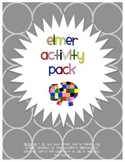 Elmer the Elephant Display & Activity Pack/Teachers Aid/Homeschool Pack