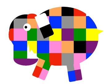 Elmer the Elephant Display & Activity Pack/Teachers Aid/Homeschool Pack