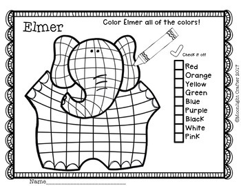 Elmer Book Companion for Celebrating Uniqueness
