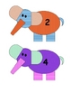 Elmer Elephant Numbers 1-20