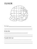 Elmer Inference/coloring sheet bilingual