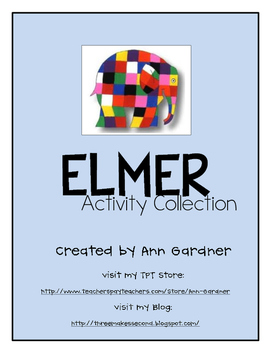 Elmer Collection - Asking/Telling Sentences and Word Work - UPDATED