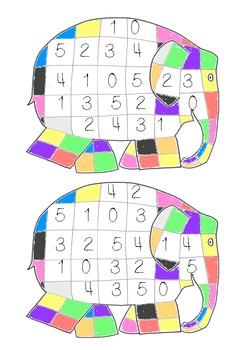 Elmer Math Activity Pack