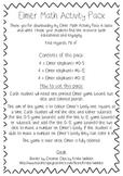 Elmer Math Activity Pack {Black and White}