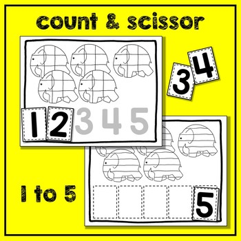 Elmer Math Pack #3 (3 Math Centers for Early Learners)