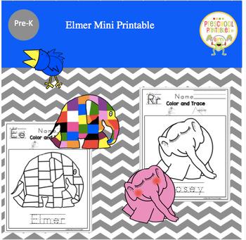 Elmer Mini Printable