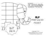 Elmer: Print and Go SLP Mini Companion Preschool-2nd Grade