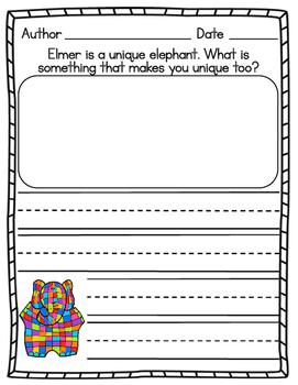 Elmer Writing Prompt