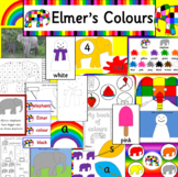 Elmer's Colours book study activity pack
