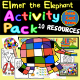 """Elmer the Elephant Activity Pack 9 Resources """"Be Yourself!"""
