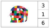 Elmer the Elephant Count and Clip Cards