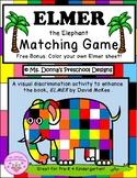 Elmer the Elephant File Folder Game