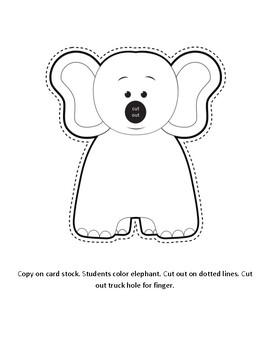 Elmer the Elephant Finger Puppet