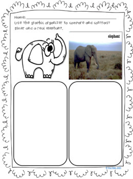 ELEPHANT ACTIVITIES NONFICTION AND FICTION for Kindergarten and First Grade