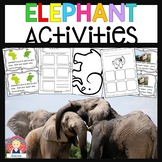 ELEPHANT ACTIVITIES NONFICTION AND FICTION for Kindergarte