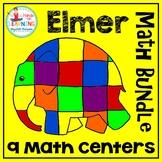 Elmer the Elephant Math BUNDLE (9 Math Centers for Early Learners)