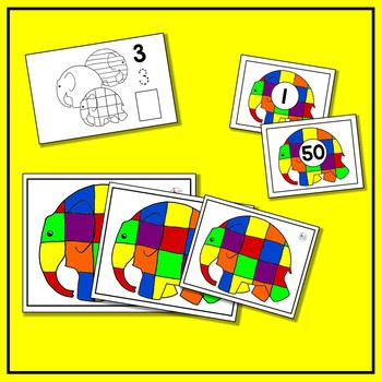 Elmer the Elephant Math BUNDLE (9 Math Centers for Early Learners)