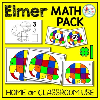Elmer the Elephant Math Pack #1 (3 Math Centers for Early Learners)