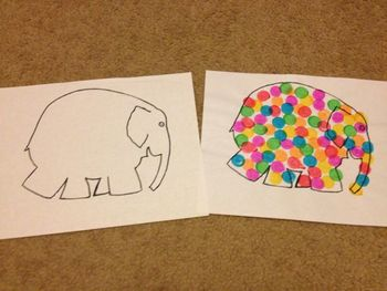 Elmer the Elephant Outline