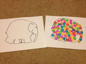 Elmer the Elephant Outline