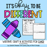 It's Okay to be Different (activities to accompany Elmer)