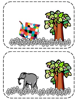 Elmer the Elephant Story Sequencing Cards