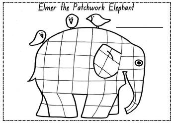 Elmer the Patchwork Elephant Letter E Activity